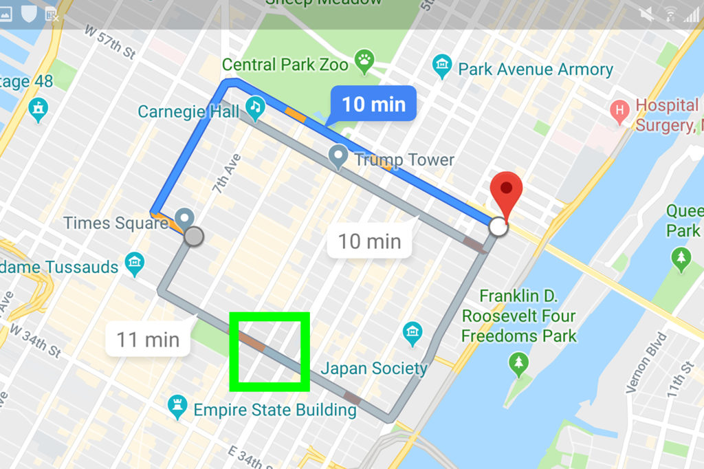 google maps change route