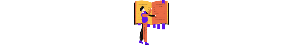 aggregator website meaning. Illustrative image: a person is looking for something in the book full of bookmarks
