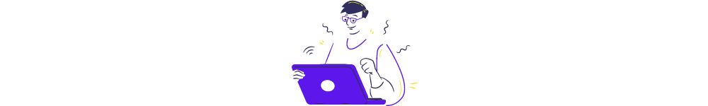 aggregator website meaning. Illustrative image: a man is using PC and looking for something on the internet