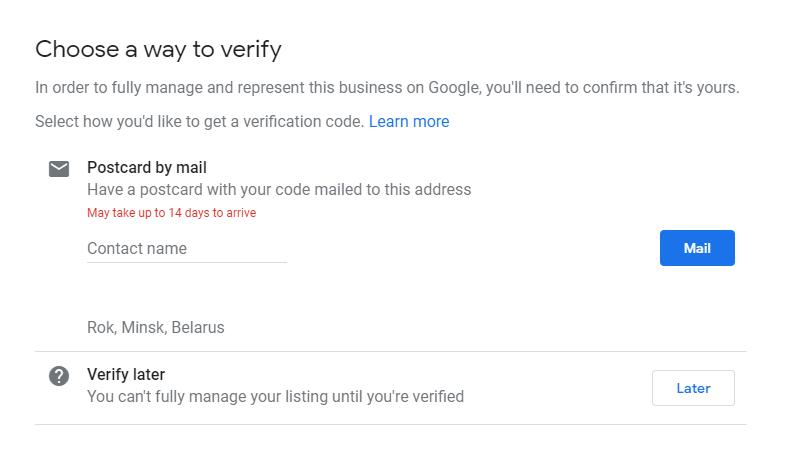 google my business profile creation