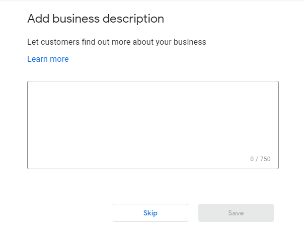 google my business website and profile creation