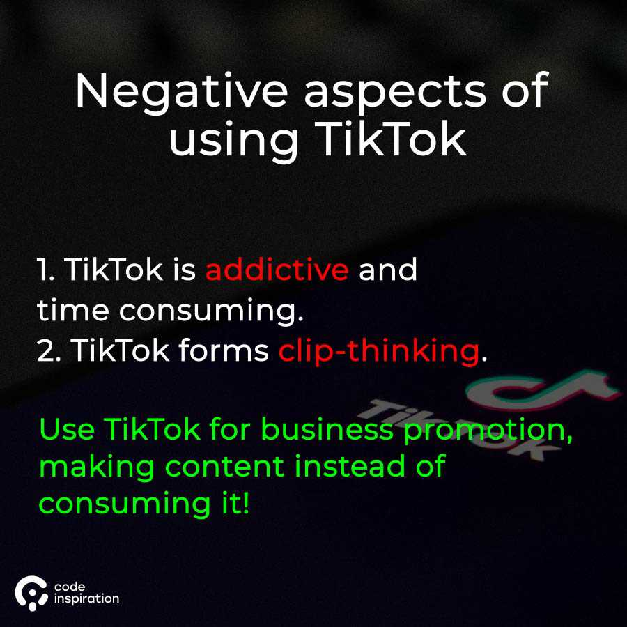 negative aspects of TikTok
