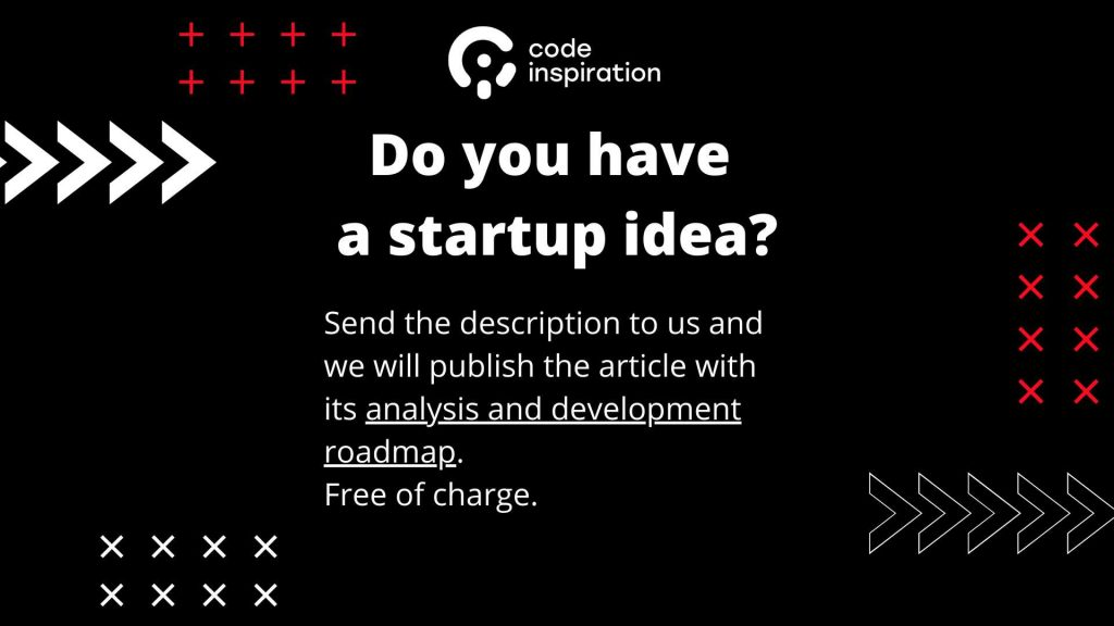 Startup idea analysis. An image with a text.
